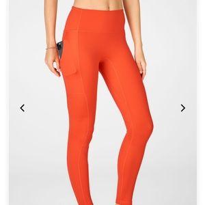 BRAND NEW! Orange Fabletics High-Waisted Leggings
